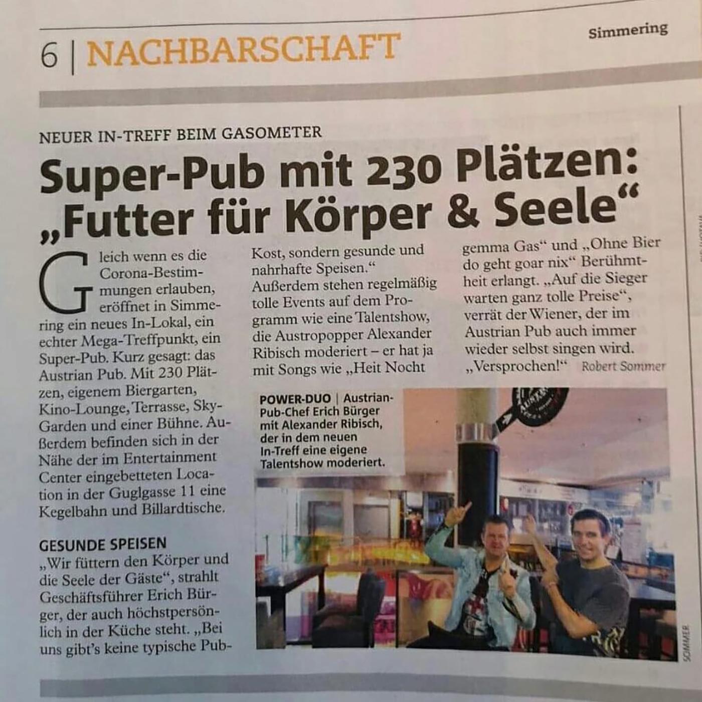 Super-Pub mit 230 Platzen