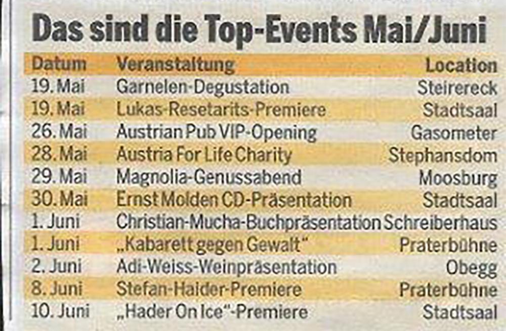 Das sind die Top-Events Mai/Juni