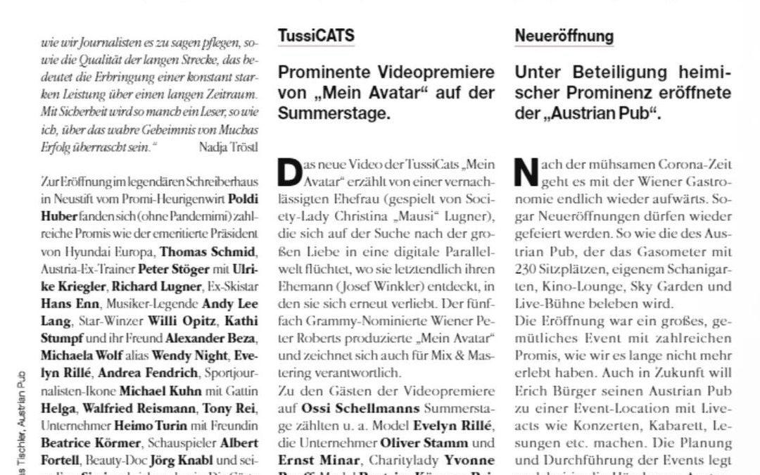 Zeitungsartikel in der aktuellen Ausgabe vom Extradienst (Mucha Verlag) – 7. Juli